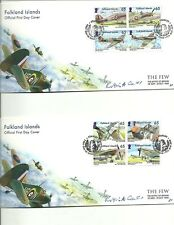 FALKLAND ISLANDS- 2010-70TH ANNIV OF THE BATTLE OF BRITAIN SIGNED BY ARTIST FDC