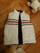 NWT NEW Burberry Baby toddler boys reversible white puffer vest knight logo 18m