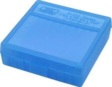 Coque arriere MTM Gard reloading pistolet .38/357 munitions box clear blue P100 séries neuf