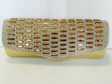 Oro Perline Sparkle Flap Pochette-First Class Postage