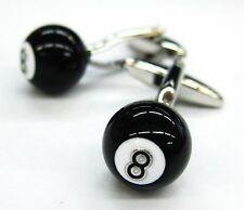 Black 8 Pool Ball Cufflinks Snooker Cuff Links Games Sports Cuff Links 100 for 7