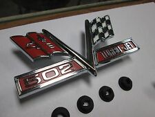 1966 1967 66 67 CHEVELLE EL CAMINO NEW PAIR OF 502 SS CROSS FLAG FENDER EMBLEMS