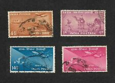 India 1954 Postage Stamp Centenary transport 4v used