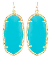 Kendra Scott Elle Dangle Earrings in Turquoise & 14k Gold Plated