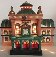Celebrating Christmas Lighted Victorian House Central Station 1995 Village Town