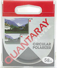 Quantaray 58mm Circular Polarizing C-PL Filter Film & Digital Retail $32+ MINT!
