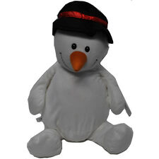 EB Embroider Sonny Snowman 16 Inch Embroidery Stuffed Animal