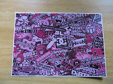 Sticker Bomb sheet 3b - Pink- A4 size