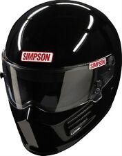 SIMPSON RACING BANDIT HELMET LG #6200032 reg. BLACK SA2015 SFI HEAD/NECK READY