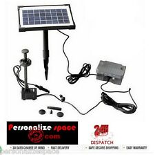 3.5W Solar Power Fountain/Pond/Pool Water Feature Pump Kit with Timer & LED Ligh