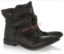 Vintage Womens Western Cowboy Ankle Boots Suede Pull On Roma Slouch Leather HOT