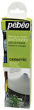 Pebeo Discovery Set CERAMIC Paint for Pottery, Terracotta, China - 6 x 20ml Pots