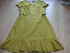 BODEN ANTIQUE GOLD BRUNSWICK DRESS SIZE 18 REG BNWOT