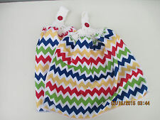 2 Hanging Kitchen Dish Towels With Crochet Tops Red Blue Green Chevron Zig Zag
