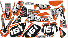 DECAL KIT IN MX VINYL fits KTM SX 65 02 03 04 05 06 07 08 (NON OEM)