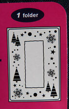 Crafts-Too/CTFD3036/C6/Embossing /Folder/Snow Frame/Tree/Snowflake/Christmas