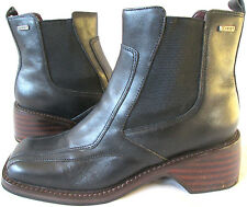 FRYE 'Frenzy Side Gore' Black Leather Square Toe Ankle Boots Chunky Womens Sz 9