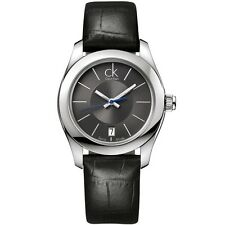 NEW CK CALVIN KLEIN K0K23161 SWISS MADE WOMEN'S BLACK WATCH STRIVE