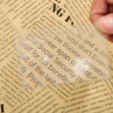 3Pcs Read Bookmark Magnifier Magnification Magnifying Fresnel LENS Reading Tools