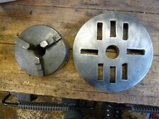 Metal Work 3 Jaw Lathe Chuck & Faceplate