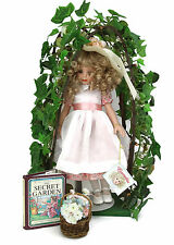 """1998 Robert Toner Camellia Special Event Doll 14"""" WIth Arbor Missing Small Doll"""