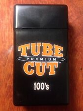 Gambler Tube Cut 100's Size Cigarette Case Hard Flip Top Black Heavy Duty Box
