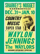 "Waylon Jennings 16"" x 12"" Photo Repro Concert Poster"