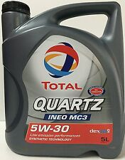 Total Quartz / Elf Ineo MC3 5W30 Engine Oil = 5 Litre LOW EMMISIONS LOW SAPS