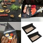 2pcs BBQ Grill Mat Cooking Outdoor Reusable Non-stick Surface Pad Barbecue QT