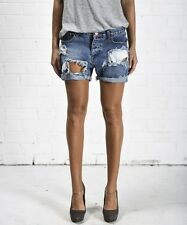 $126 NEW ONE by One Teaspoon Chargers Relaxed Fit Shorts in Pacifica Size 30