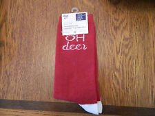 "NWT GAP womens trouser socks red; heel, toe and ""oh deer"" in white one size fits"