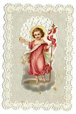 Carte religieuse image pieuse canivet L'enfant jésus 1870 religion holy card