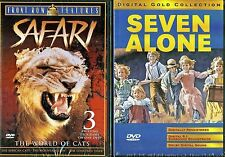 Safari - The World Of Cats & Seven Alone -  2 Children & Family DVDs