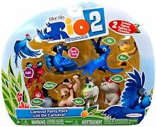 Rio 2 Movie CARNIVAL PARTY PACK Complete 8 Figure Set ~NEW~