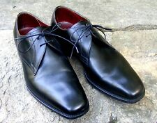 "CHARLES TYRWHITT Oxford, Black Leather 2-hole Snip Toe Laces, 1"" heel Sz 10-10.5"