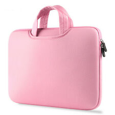 Luxury Laptop Bag Notebook Case Handbag Carry Bag Pink For 15.6 Inch