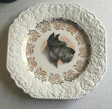 "Vtg Lord Nelson Pottery Scotty Scottish Terrier Dog 8 1/2"" Collector Plate"