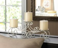 Tuscan Candelabra Candle Stand Large White Candleholder Wedding Centerpieces