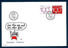 SWEDEN - SVEZIA - BUSTA - 1984 - 100° lega Fredrika Bremer per la parità diritti