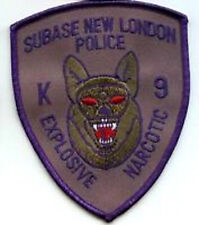 US SUBASE NEW LONDON POLICE K9 EXPLOSIVE NARCOTIC PATCH