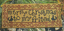 "Carriage House Samplings ""Merry Christmas"" Pattern"