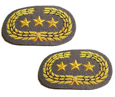 American Civil War Pair Of Confederate Generals Grey Collar Insignia Badges