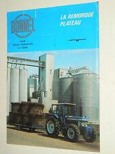 Prospectus remorque BONNEL  brochure catalogue tractor tracteur FORD traktor