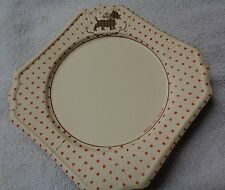 Scotty Scottie Dog Red Dot Squared Corners Paper Plate