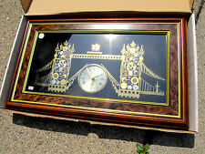 Rare 90,s Tower Bridge Clock Made in London Hand Made From Clocks and Watches