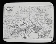 Glass Magic Lantern Slide  MAP OF CANADA  DOMINION OF NEWFOUNDLAND C1910