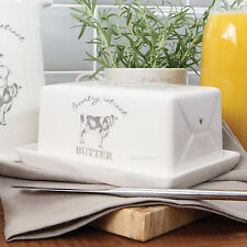 David Mason Country Retreat Butter Storage Dish Cream Farmyard Serving Bowl