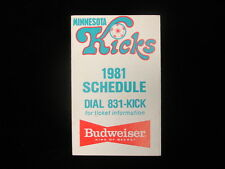 1981 Minnesota Kicks Soccer Schedule
