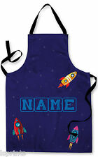 PERSONALISED ROCKETS CHILDRENS APRON BAKING PAINTING WATER PLAY ARTS & CRAFTS