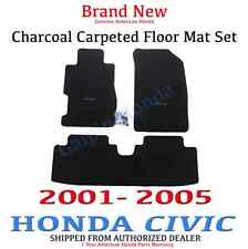 Genuine OEM Honda Civic 2dr / 4dr Black Carpet Floor Mats 01 - 05 08P15-S5P-111